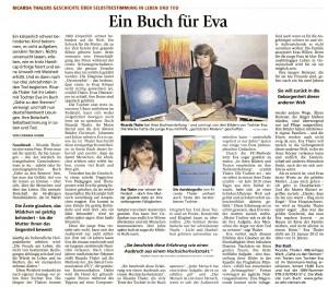 'Ein Buch für Eva' im Freisinger Tagblatt 2.4.2015